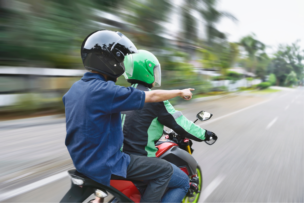 who is responsible for motorcycle passenger injuries